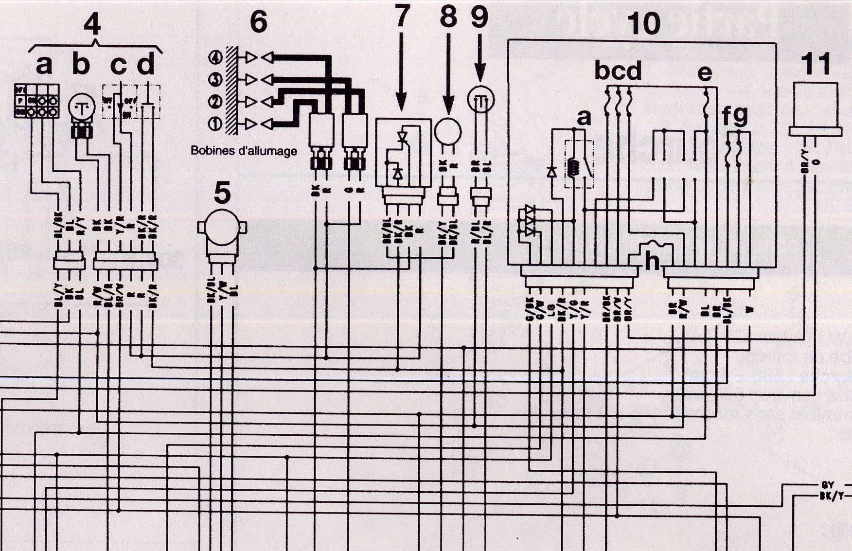 Schema electrique zxr 750
